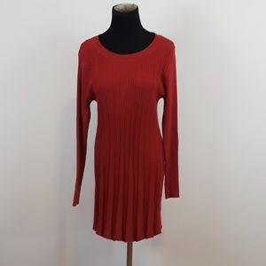 Papillon red sweater dress size XL